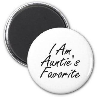 I Am Auntie's Favorite 2 Inch Round Magnet