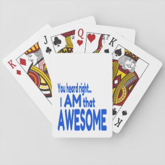 I am Awesome in Blue Poker Deck