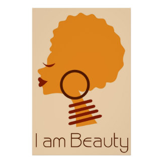 I am Beauty Natural Hair Poster
