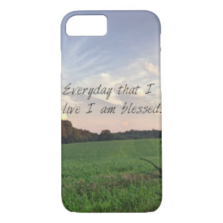 I Am Blessed iPhone 7 Case
