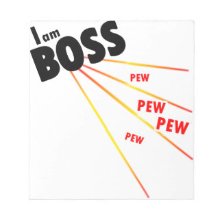 I am boss notepads