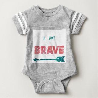 I Am Brave! Baby Jersey One Piece Baby Bodysuit