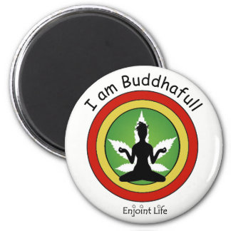 I am Buddhafull - Red Gold & Green by Enjoint Life Magnet