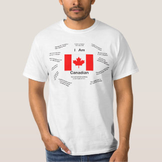 I am Canadian Important Facts: T-shirts