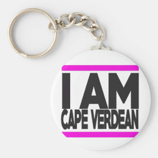 i am cape Verdean Keychain