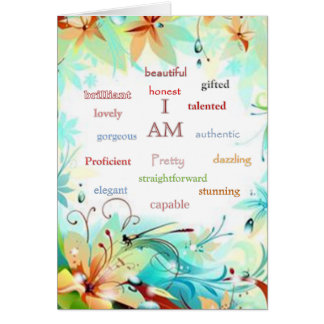 I am..... card