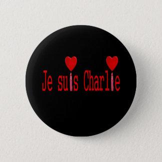 I am charlie 2 inch round button