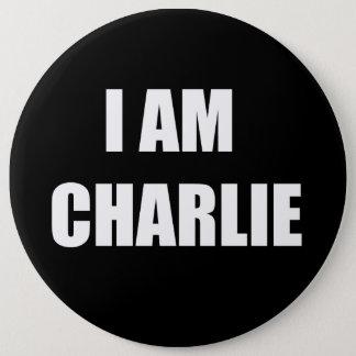 I AM CHARLIE 6 INCH ROUND BUTTON