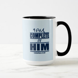 I Am Complete In Him Devotional Combo Mug