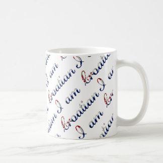 I am Croatian Country Pride Typography Pattern Coffee Mug