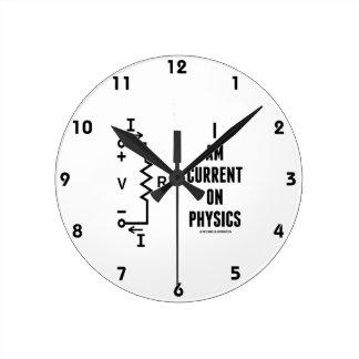 I Am Current On Physics (Ohm's Law) Wallclocks