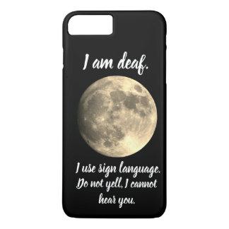 I am Deaf  Full Moon Helpful Communication Case-Mate iPhone Case