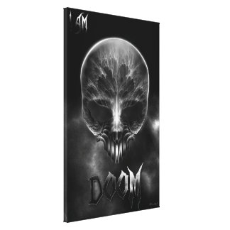 I Am Doom Fractal Skull Canvas Print