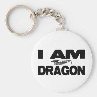 I Am Dragon Keychain