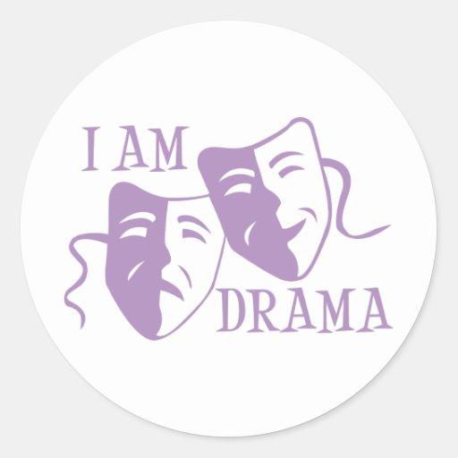 I am drama lavender stickers