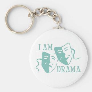 I am drama light blue keychain