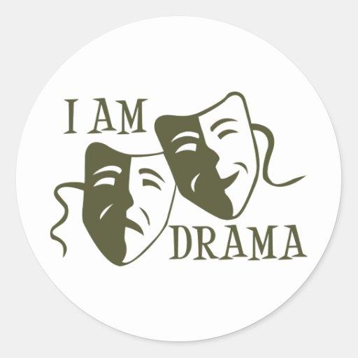 I am drama od green sticker