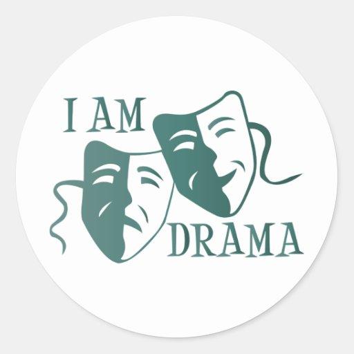 I am drama teal gradient sticker