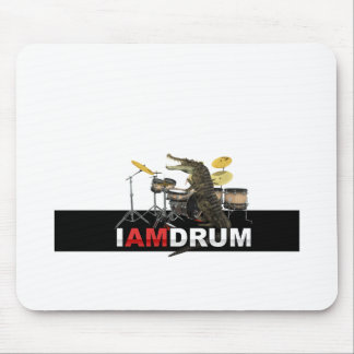 I am drum crocodile mouse pad