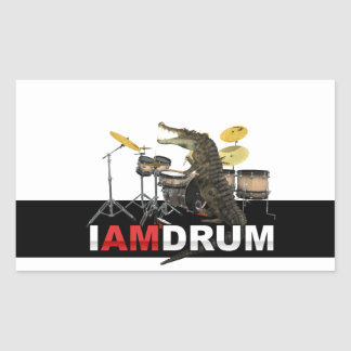 I am drum crocodile sticker