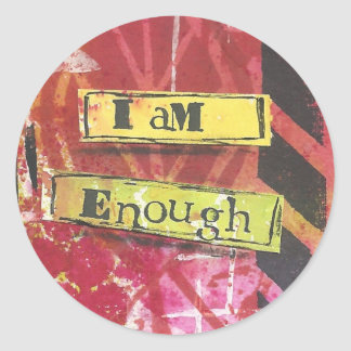 """I Am Enough"" Inspirational Mantra Stickers"