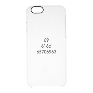 I AM EPIC... expressed in hexadecimal Clear iPhone 6/6S Case