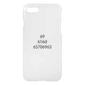 I AM EPIC... expressed in hexadecimal iPhone 7 Case