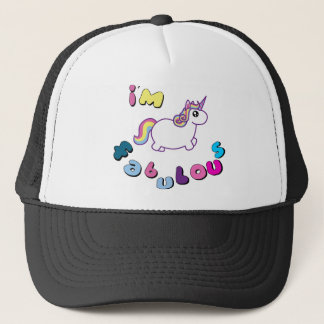 i am fabulous unicorn trucker hat