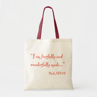 """I am fearfully and wonderfully made"" Bag"