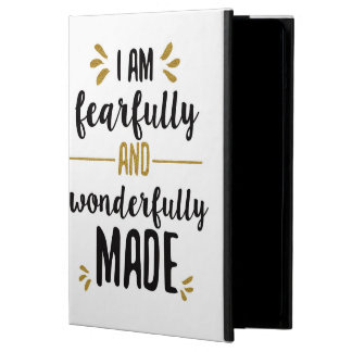 """""""i am fearfully & wonderfully made"""" cover for iPad air"""