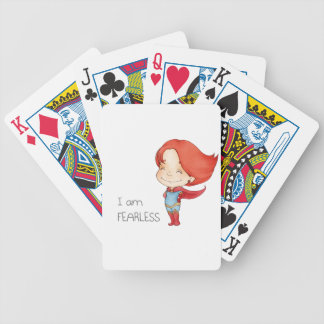 I am fearless Gilr Bicycle Playing Cards