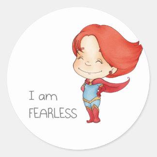 I am fearless Gilr Classic Round Sticker
