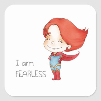 I am fearless Gilr Square Sticker