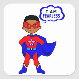 I Am Fearless Square Sticker