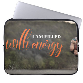 I Am Filled With Energy Laptop Sleeve