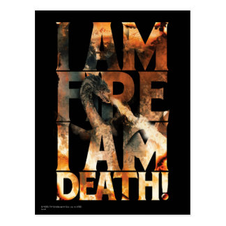 I Am Fire I Am Death! Postcard