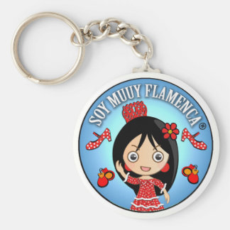 I am Flamenco Muuy: Colored person and Red Gypsy S Keychain