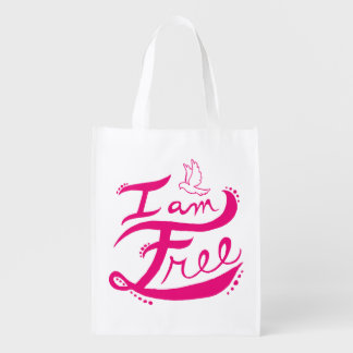 """I Am Free"" Reusable Bag"