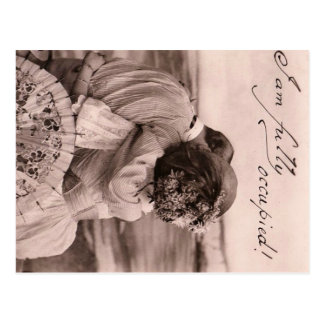 """""""I am fully occupied!"""" romantic vintage kiss funny Postcard"""