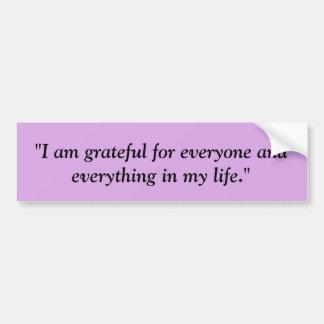 """""""I am Grateful"""" Bumper Sticker Purple"""