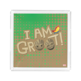 """I Am Groot"" Emoji Acrylic Tray"