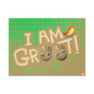 """I Am Groot"" Emoji Canvas Print"