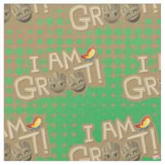 """I Am Groot"" Emoji Fabric"