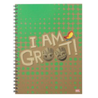 """I Am Groot"" Emoji Notebooks"