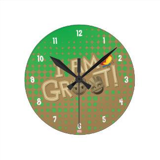 """I Am Groot"" Emoji Round Clock"