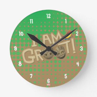 """I Am Groot"" Emoji Wallclock"