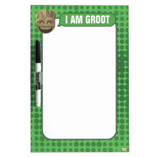 """""""I Am Groot"""" Text Emoji Dry Erase Board"""