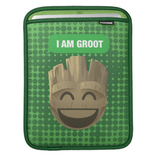"""I Am Groot"" Text Emoji iPad Sleeve"