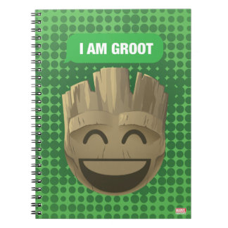"""I Am Groot"" Text Emoji Notebook"