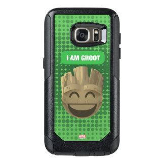"""I Am Groot"" Text Emoji OtterBox Samsung Galaxy S7 Case"
